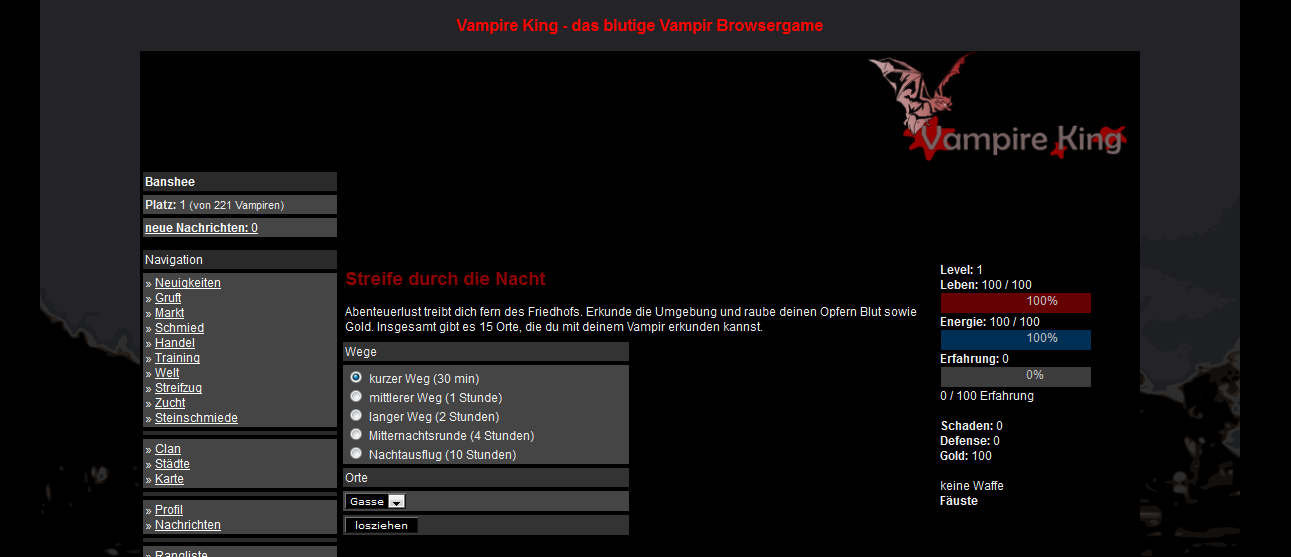 Vampirspiel Screenshot